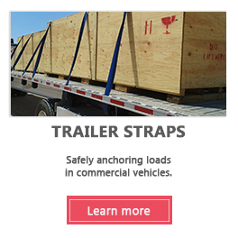 Trailer straps and anchoring system