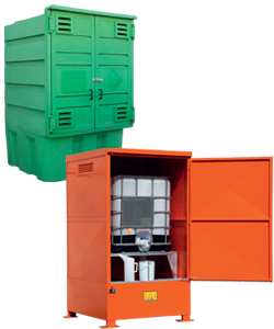 IBC cabinets for outdoor storage