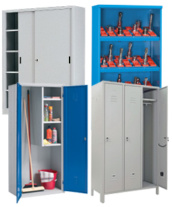 Lockers, metal cupboards and cabinets