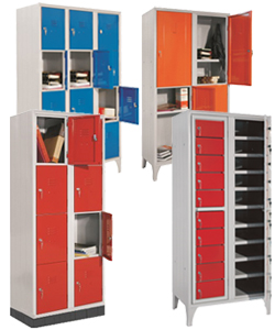 Storage lockers for schools and work places