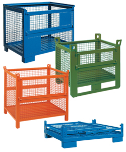 Mesh industrial containers