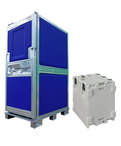 Insulated roll containers