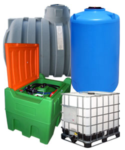 Plastic tanks, cisterns and intermediate bulk containers