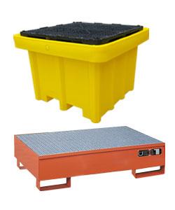Bunded pallets in polyethylene or steel