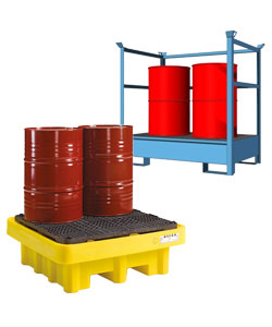 Sump and spill pallets for drums