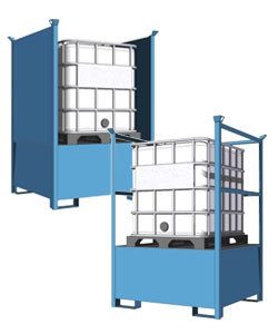Stackable IBC spill pallets