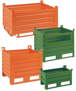 Sheet metal industrial containers