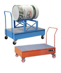 Mobile drum sump pallets