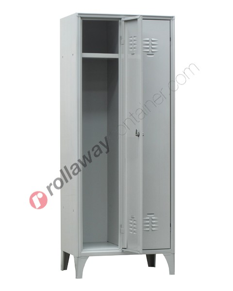 Clothes locker space saver metal 2 doors with lock 2 places