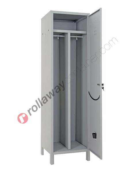 Clean and dirty lockers metal 1 door with lock 1 place