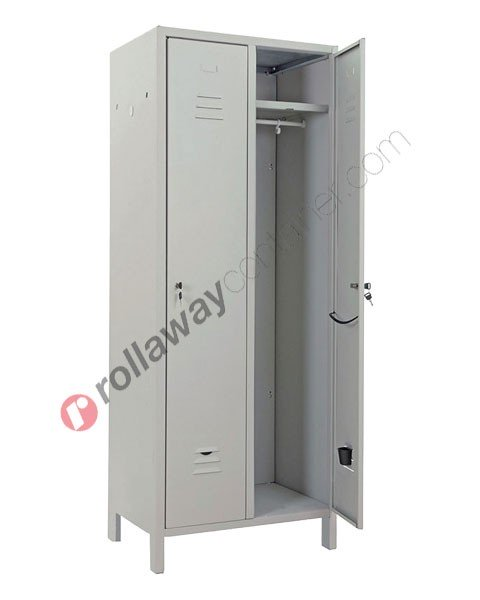Clothes locker metal 2 doors with lock 2 places