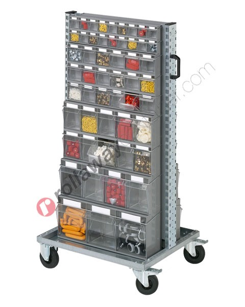 Small parts storage 07354 Smart trolley complete 106 drawers