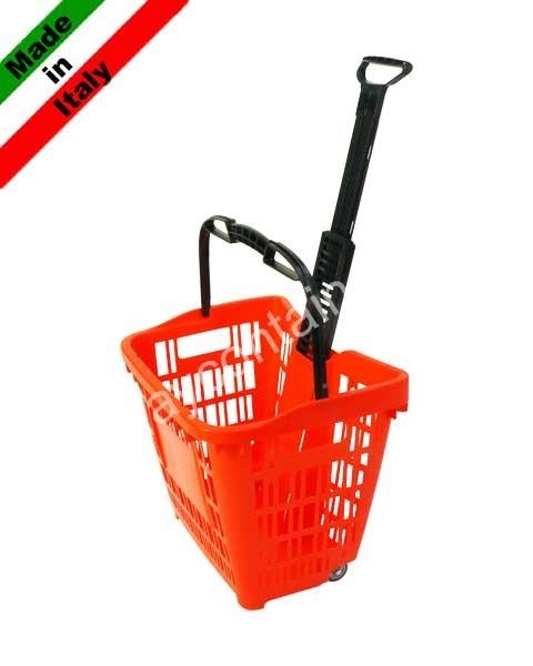 Plastic trolley basket 45 liters