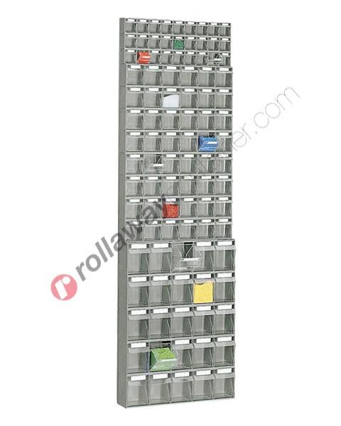 Tilt bin storage 600 x 156 H 1950 mm complete 100 drawers