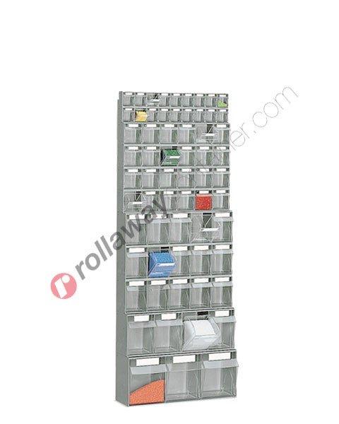 Telaio da parete con cassettiere mm 600 x 224 H 1540 cassetti 64 totali