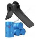 Plastic edge protector for straps