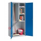 Broom cupboard metal 2 doors with lock