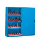 Workshop cupboard 2046x600 H 2000 mm with 2 sliding doors