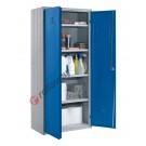 Metal storage cupboard H 180 2 doors 4 shelves with lock