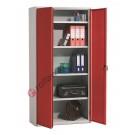 Metal storage cupboard H 200 2 doors 4 sheves with lock