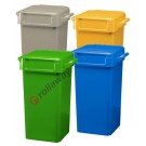 Rubbish bin 70 lt with handles