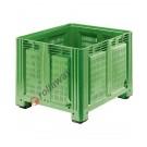 Vented plastic pallet box 1200 x 1000 H 760 heavy 680 litres