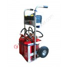 Hand truck for fire extinguishers Grisù