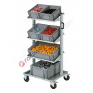 Euro container Smart trolley 07355 with 6 euroboxes