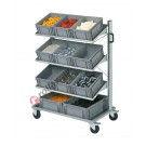 Smart trolley 102 with euroboxes