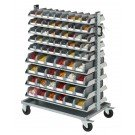 Open fronted storage bin 10253 smart trolley with 138 boxes