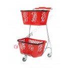 Steel basket trolley