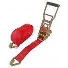 Heavy duty ratchet strap ergonomic 50 mm with J-Hook