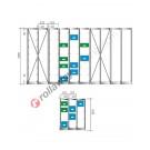 Configure your shelving euro container for euroboxes 350/300 x 200 mm