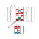 Configure your shelving euro for euroboxes 500/450 x 300 mm