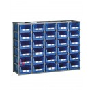 Configure your stackable shelving H 1300 mm for open fronted storage bins