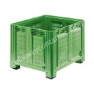 Perforated Plastic pallet box for industry 1200 x 1000 H 850 heavy 760 liters