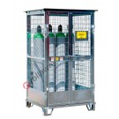 Gas cage in galvanized steel with basement