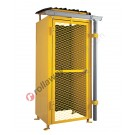 Gas cage in galvanized and painted steel certified