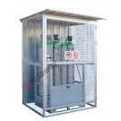 Gas cage in galvanized steel with supporting frame 1550x1210mm