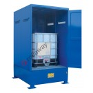 IBC storage cabinet in galvanized painted steel 1530 x 1720 x 2585 mm with spill pallet