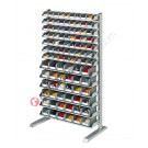 Shelving mm 1067 x 542/925 H 1817 with open fronted storage bins