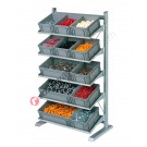 Shelving mm 1067 x 542/925 H 1817 with euroboxes