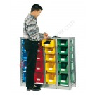 Shelving 1092 x 350 H 1010 mm complete 20 open fronted storage bin 350/300 x 200 mm