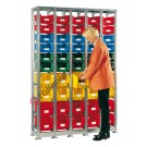 Shelving 1355 x 350 H 2010 mm complete 50 open fronted storage bin 350/300 x 200 mm