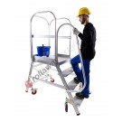 Work platform professional with reinforced platform and steps