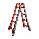 Semi-professional multi purpose ladder in steel Serafina
