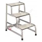 Folding step stool aluminium for professional use Cargo