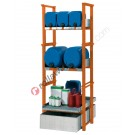 Drum and small container dispensing station with 205 lt spill pallet