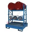 Drum dispensing station with 300 lt spill pallet