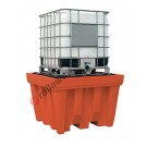 IBC pallet 1150 liter in polyethylene with grid 1420 x 1420 x 1000 mm